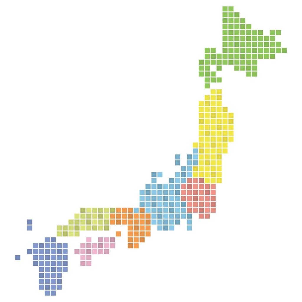 配送料の日本地図